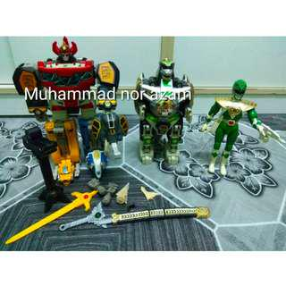 MMPR Megazord And Dragonzord 1lot preowned for sell
