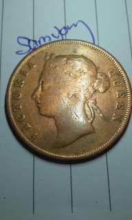 1897 victoria queen 1 cent