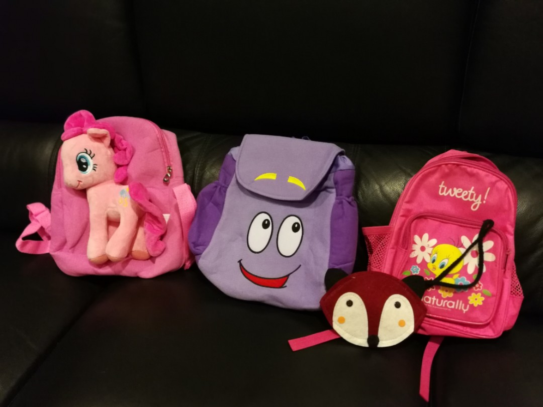 Dora map bag sold. Left 2 bags and a pouch, BN my little pony ... Dora Plush Backpack With Map on