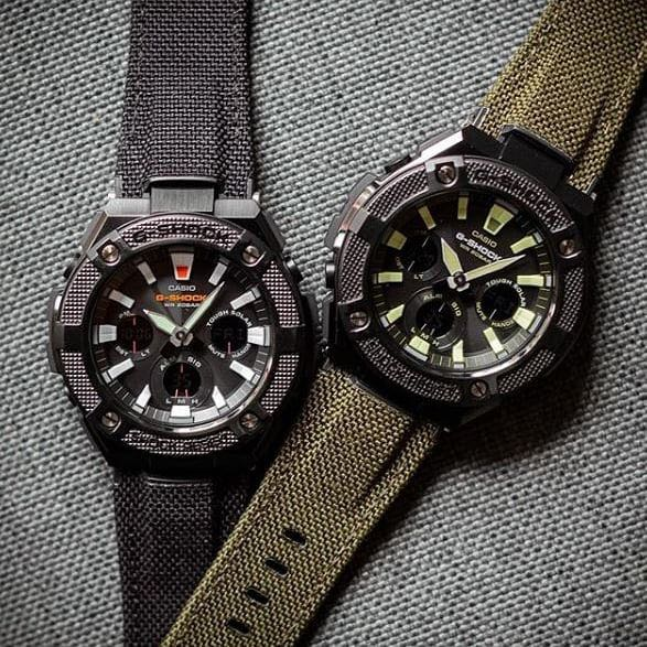 2018 Casio Gshock Gsteel Cordura Strap Gsts130bc Series Tough Solar 100 Authentic Brand New With Free Delivery G Shock