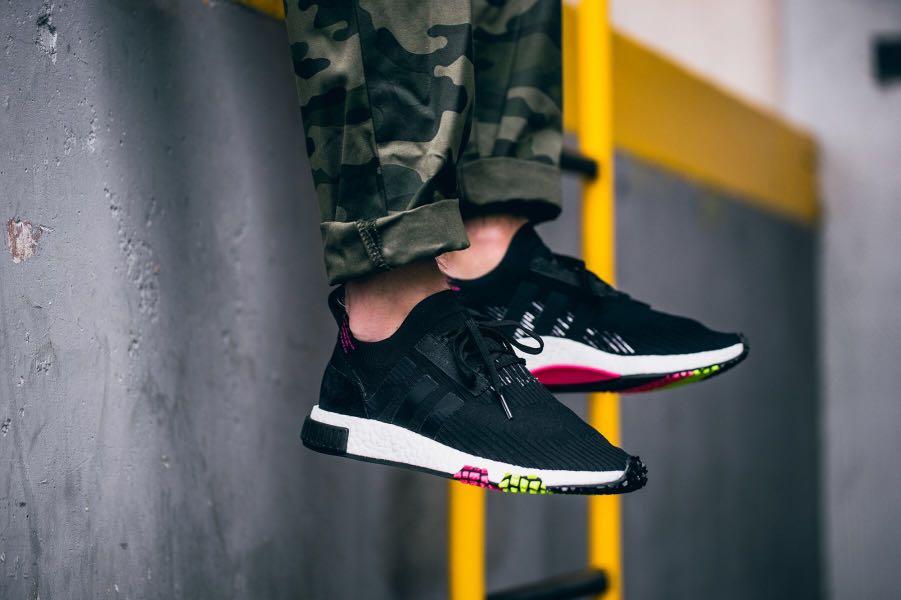 bb2de18ec00c1 Adidas NMD Racer Primeknit Shoes Black CQ2441 Mens Originals
