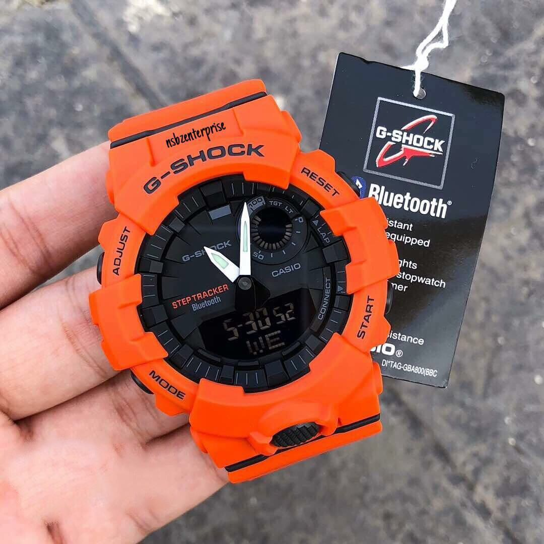 Authentic Brand New Casio G Shock Squad Gba 800 4a Step Tracker Baby Ba 110tx Original Orange Mens Ladies Sports Watch Gba800 4 2a Bluetooth