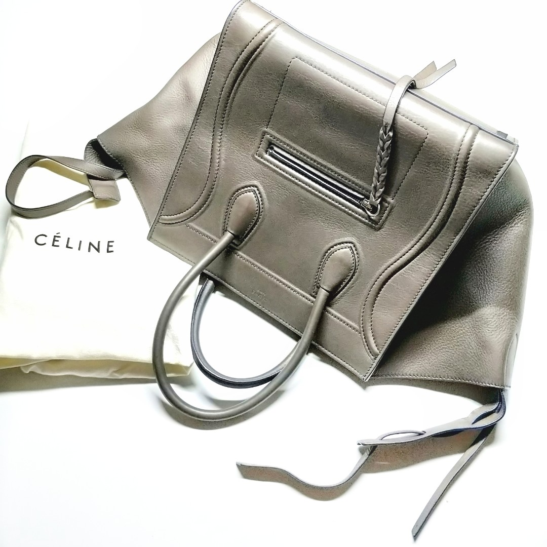a2ba06eee2 Authentic Céline CELINE Medium Phantom Luggage Tote ANTHRACITE ...