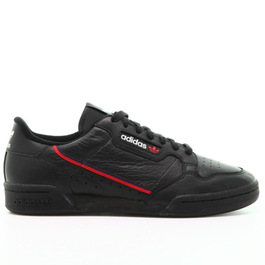 authentische schnell po adidas continental 90 schlingel schwarz mit kasten und