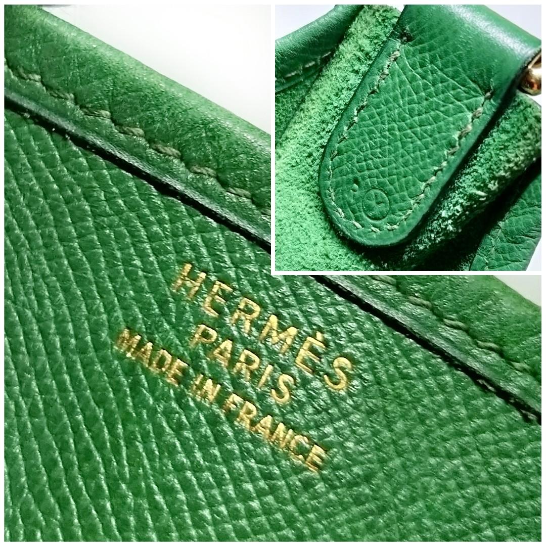 3240848621ba Authentic HERMES Evelyne I GM 33cm Vintage Circle Y Stamp GREEN ...