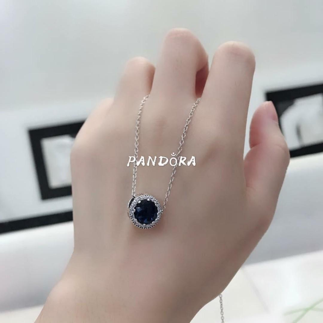 6269d2b5f Authentic Pandora Chain Necklace & Sparkling Birthstone Charm SAPPHIRE 92.5 Sterling  Silver Pandora Charms Month of September Women's Necklace on Carousell