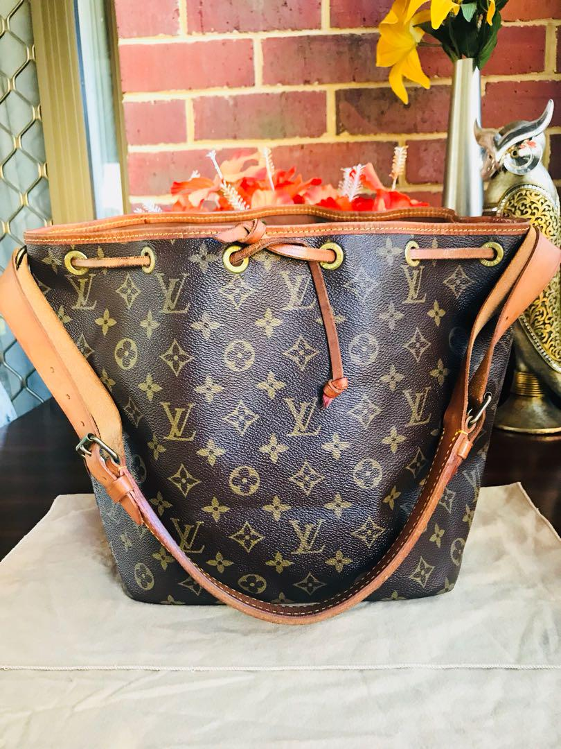 Authentic Vintage Louis Vuitton Petit Noe Monogram Leather