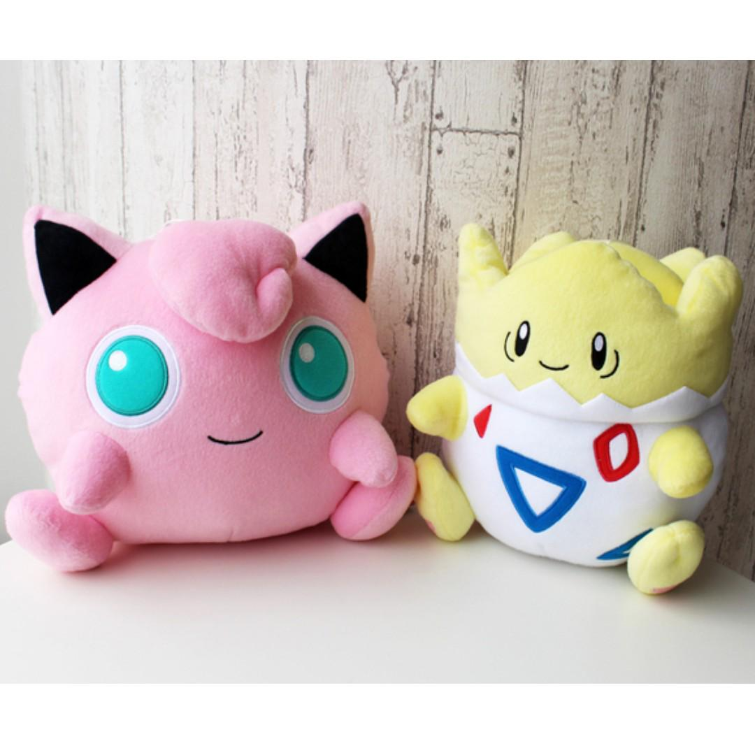 Banpresto Prize Pokemon Sun and Moon Big Plush Jigglypuff / Togepi  (Pre-Order), Entertainment, J-pop on Carousell