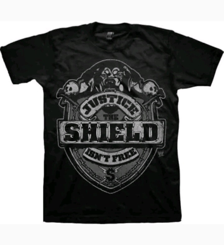 a796b489 BNIP WWE THE SHIELD 'JUSTICE ISN'T FREE' MEN T SHIRT SIZE M, Men's Fashion,  Clothes, Tops on Carousell
