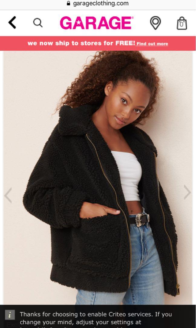 BNWOT Garage Teddy Sherpa Jacket