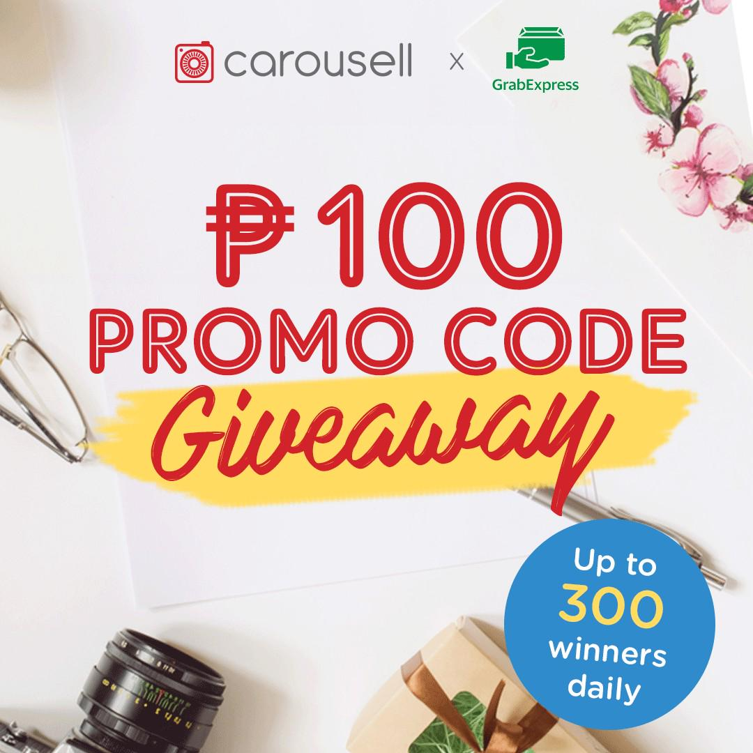 CLOSED- TO ANNOUNCE WINNERS} Carousell x GrabExpress P100
