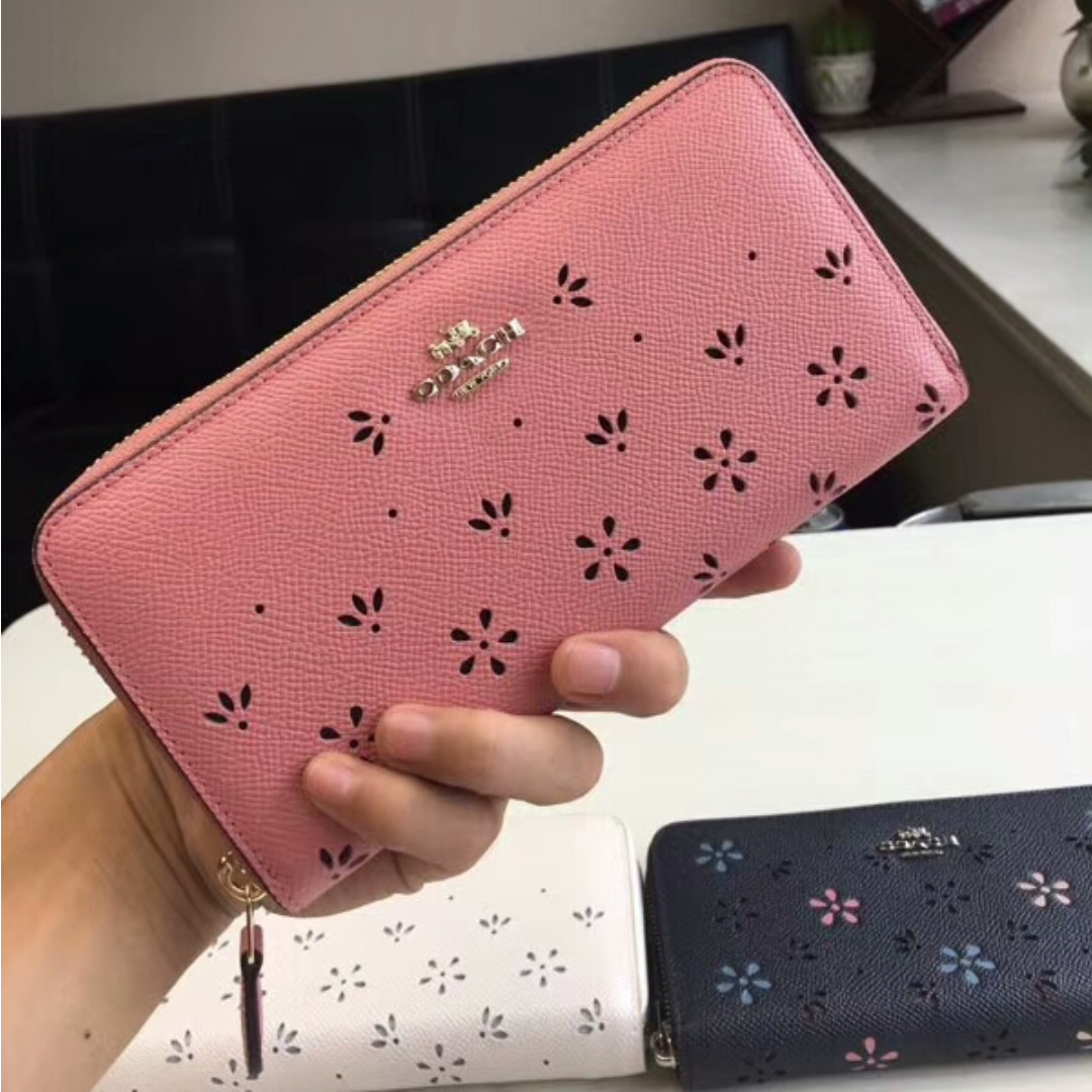 Coach Pink Flower Purse Mens Fashion Bags Wallets Wallets On