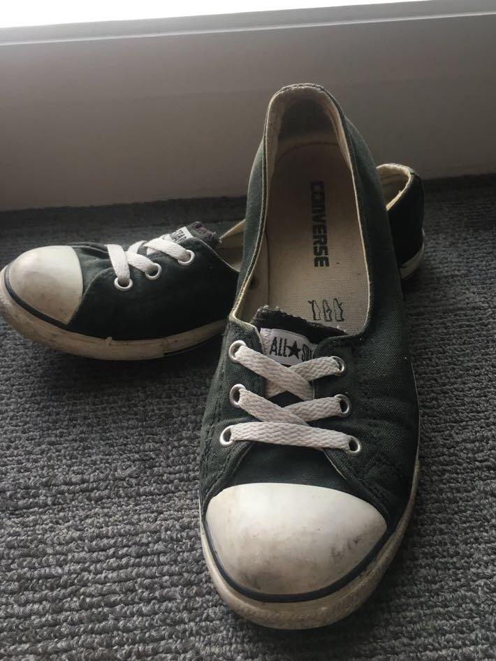 "CONVERSE Black No Shoelace ""Ballet Flats"""