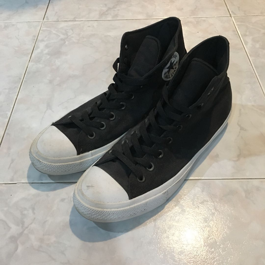 ac1e48789342 Converse Chuck Taylor 2 Black White High Cut Sneakers Shoes