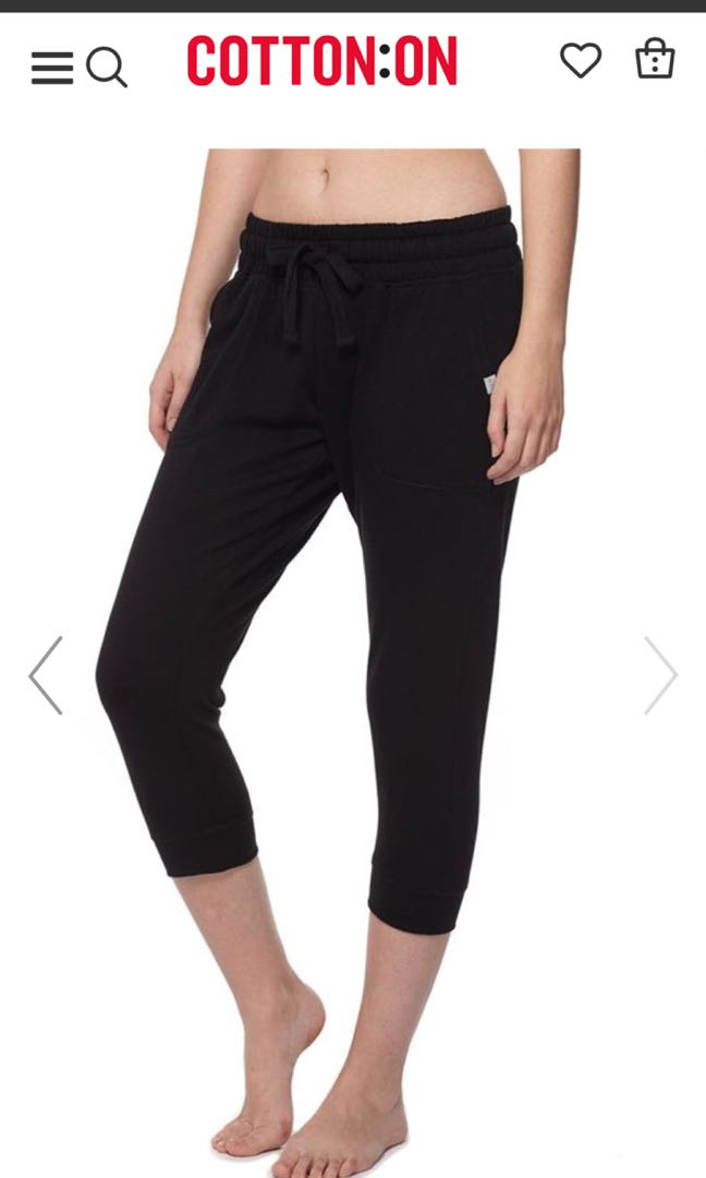 e58a5348571d8 Cotton On Cropped Gym Track Pants, Sports, Sports Apparel on Carousell