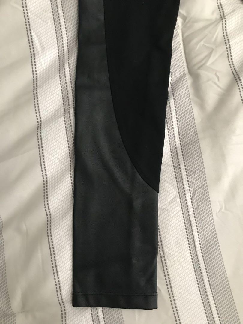 DYNAMITE half leather tights