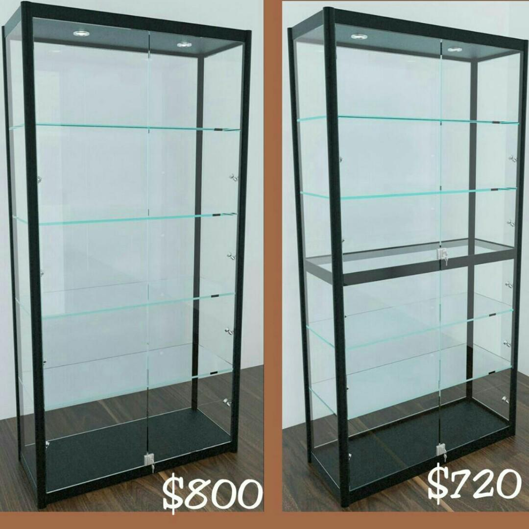 Glass Display Cabinet Furniture Shelves Drawers On Carousell