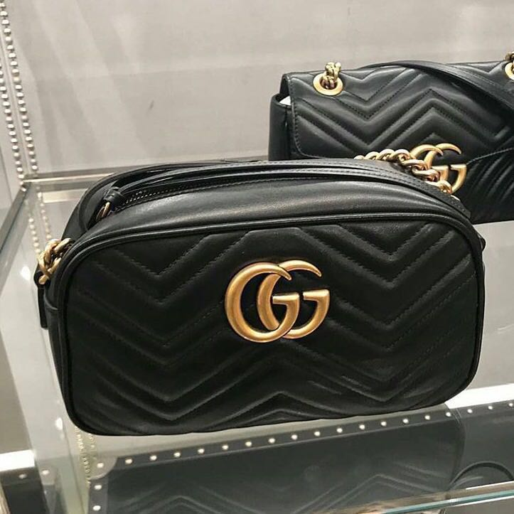 4e62c0159c3 Gucci Marmont Matelasse Small Camera Bag