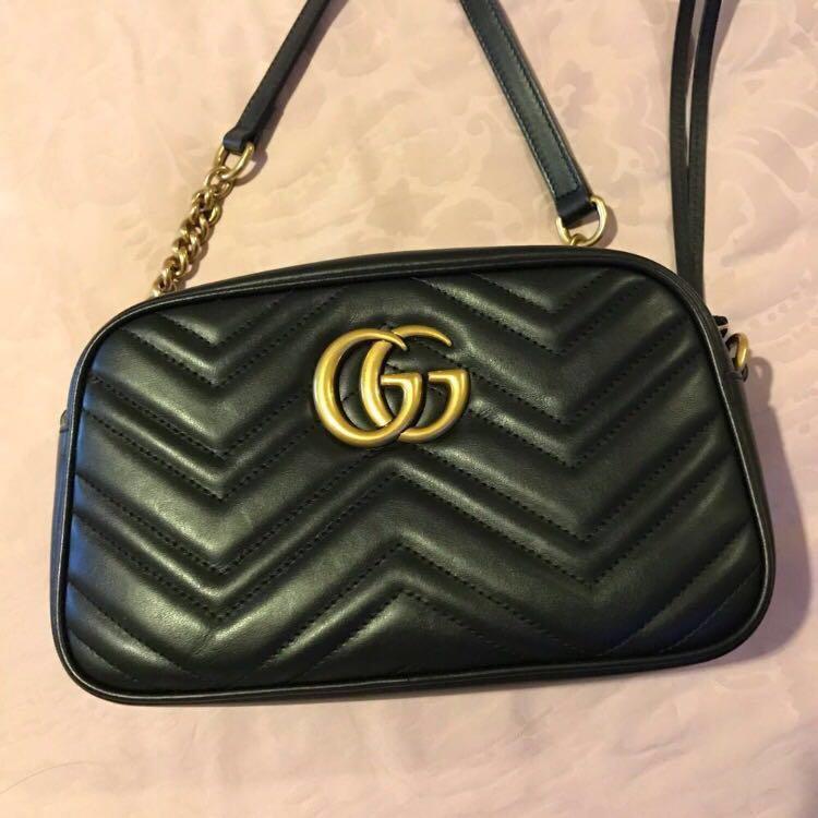 35d39839592 Gucci Marmont Matelasse Small Camera Bag