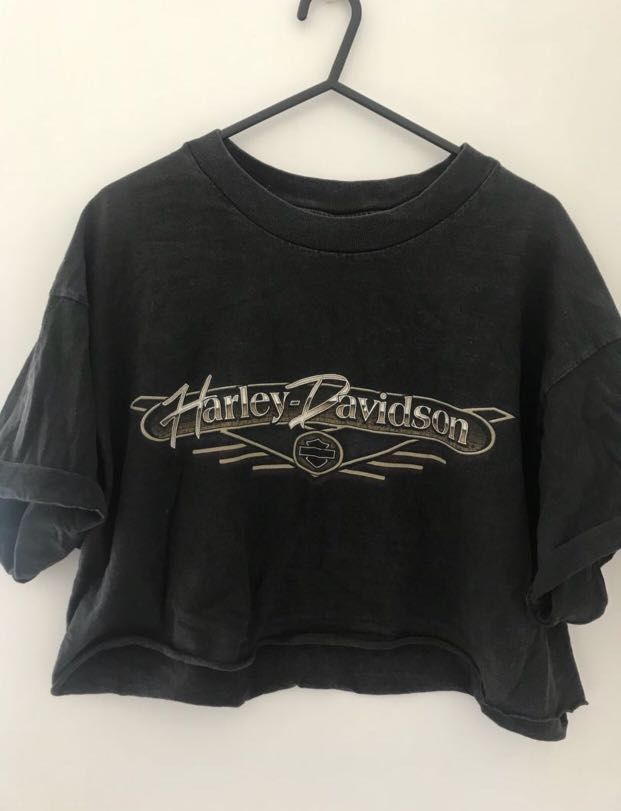 6b57a198248 Harley Davidson crop top, Women's Fashion, Clothes on Carousell