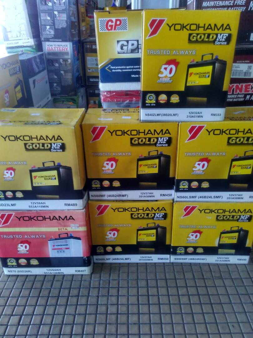 Further Markdown Yokohama Gs Yokobatt Car Battery Auto