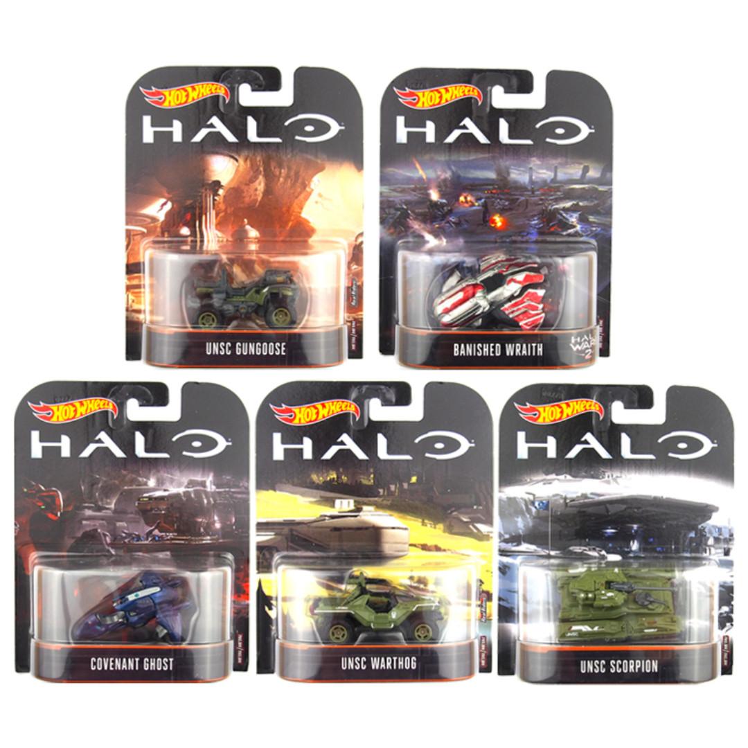 Hot Wheels DMC55 HALO Diecast Car Collection Set (5pcs)