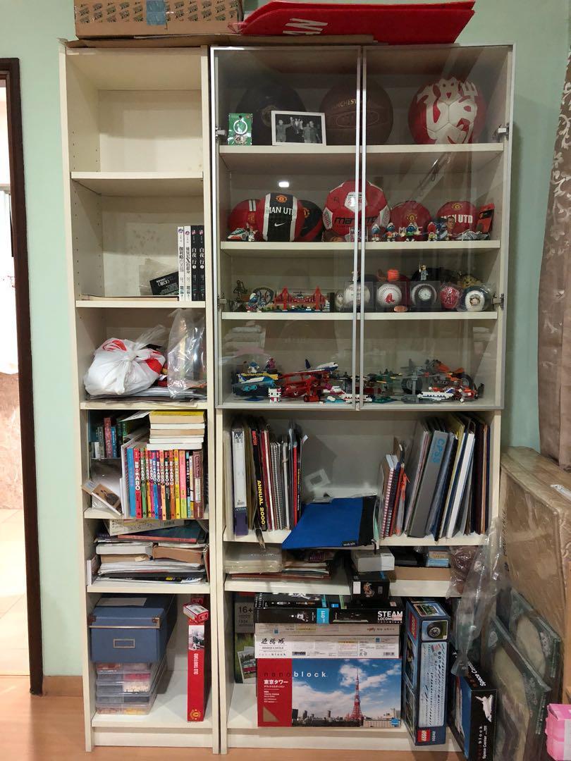 Ikea Billy Bookcase Half Door Furniture Shelves