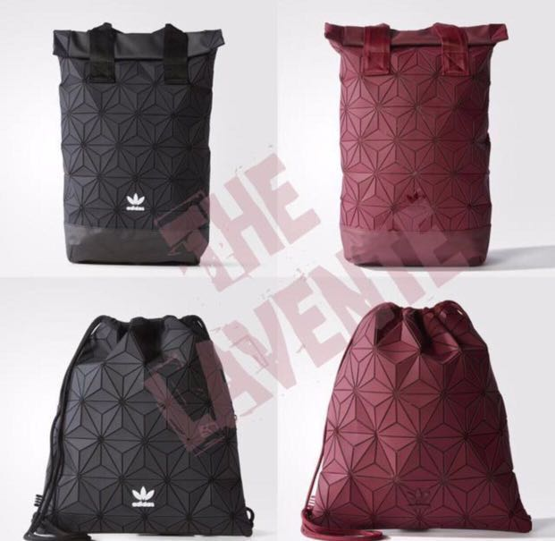 07dffbb1ea In Stock) Adidas Issey Miyake 3D Gym Sack Black   Burgundy