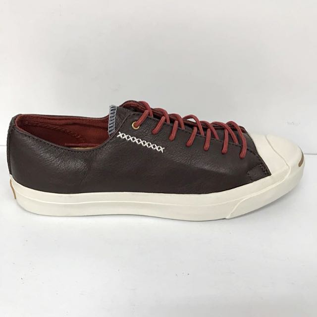 b981b8add710 JACK PURCELL DARK BROWN LEATHER LOW