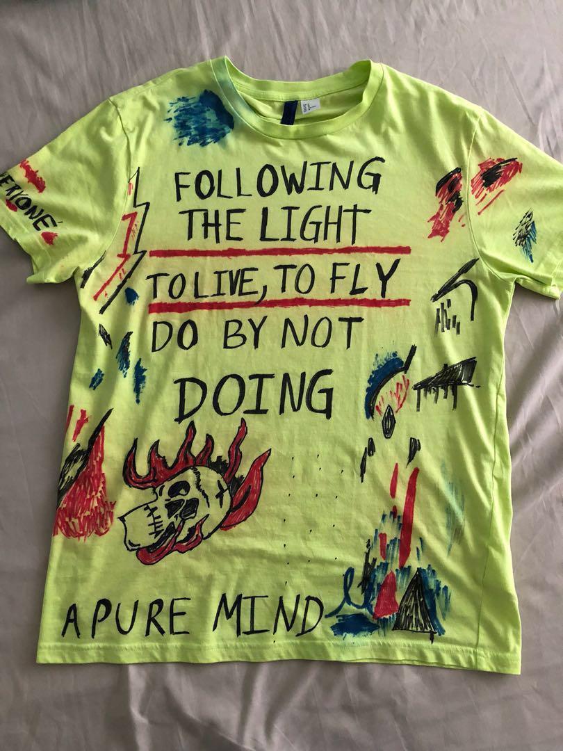 Kanye West Wyoming DIY on H&M Basic Shirt on Carousell
