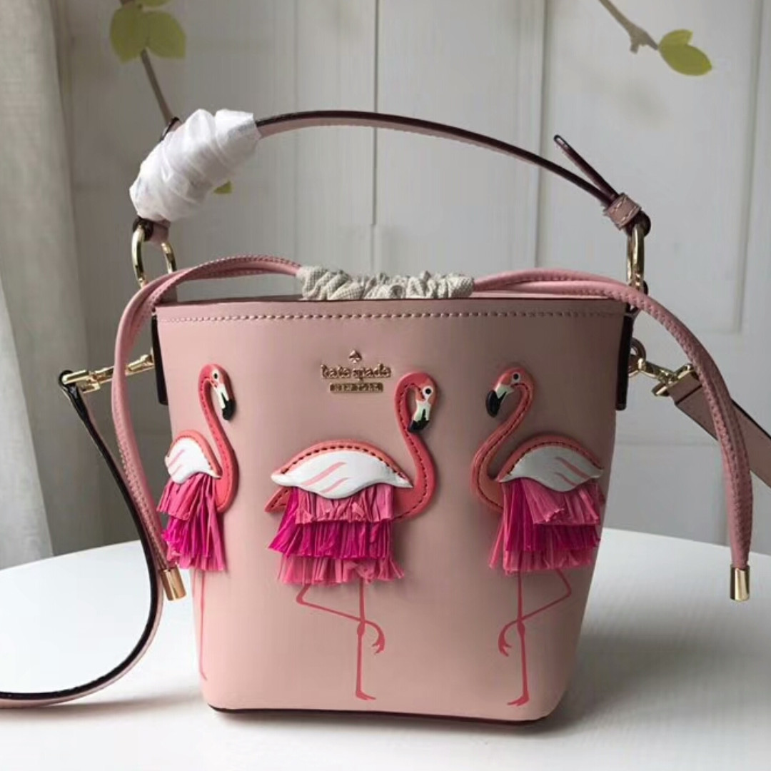 Kate Spade Pink Flamingo Bucket Bag Womens Fashion Bags Wallets Handbags On Carousell