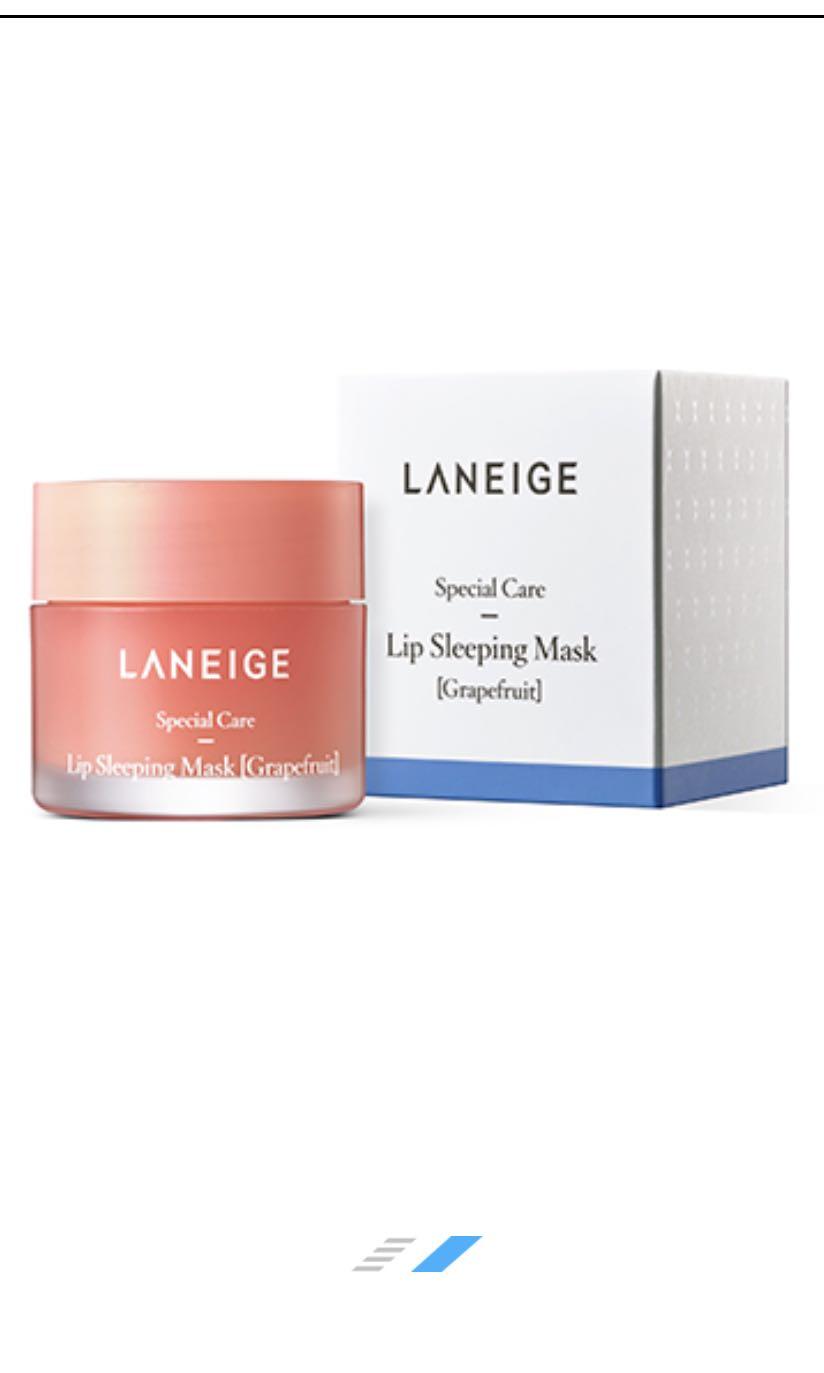 Laneige Lip Sleeping Mask Grapefruit Health Beauty Face Skin Care On Carousell