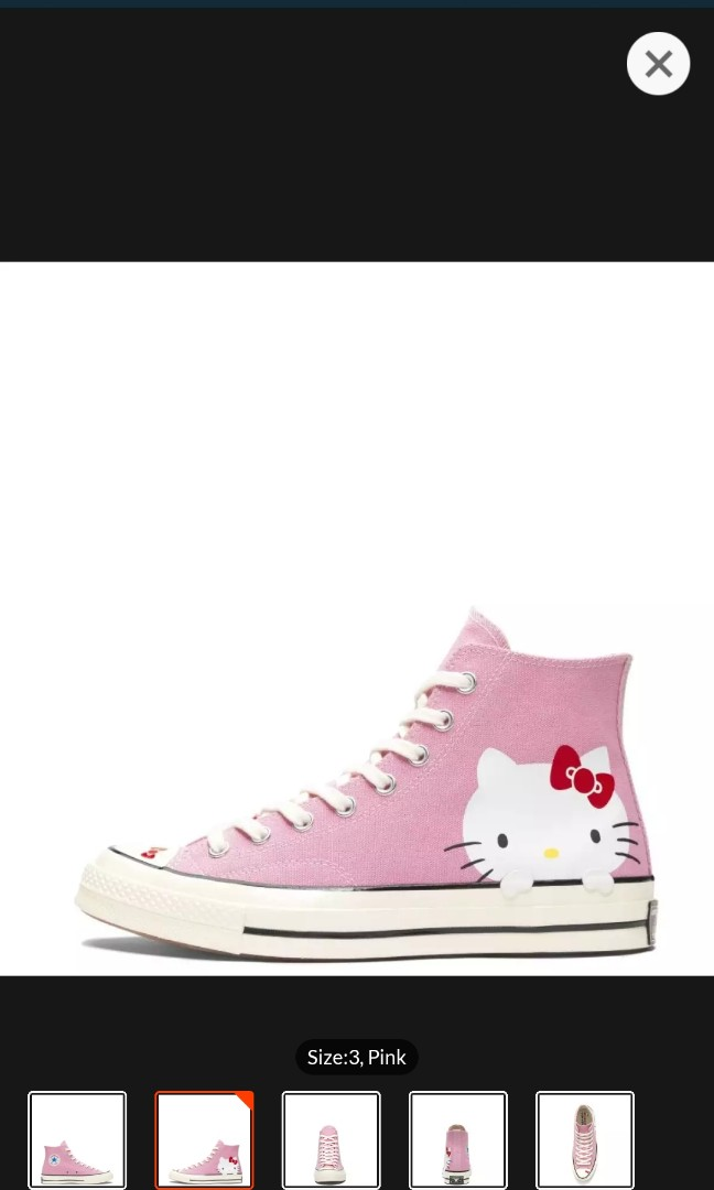 44dd3038d461 Limited edition CONVERSE X HELLO KITTY CHUCK TAYLOR ALL STAR 70 HIGH ...
