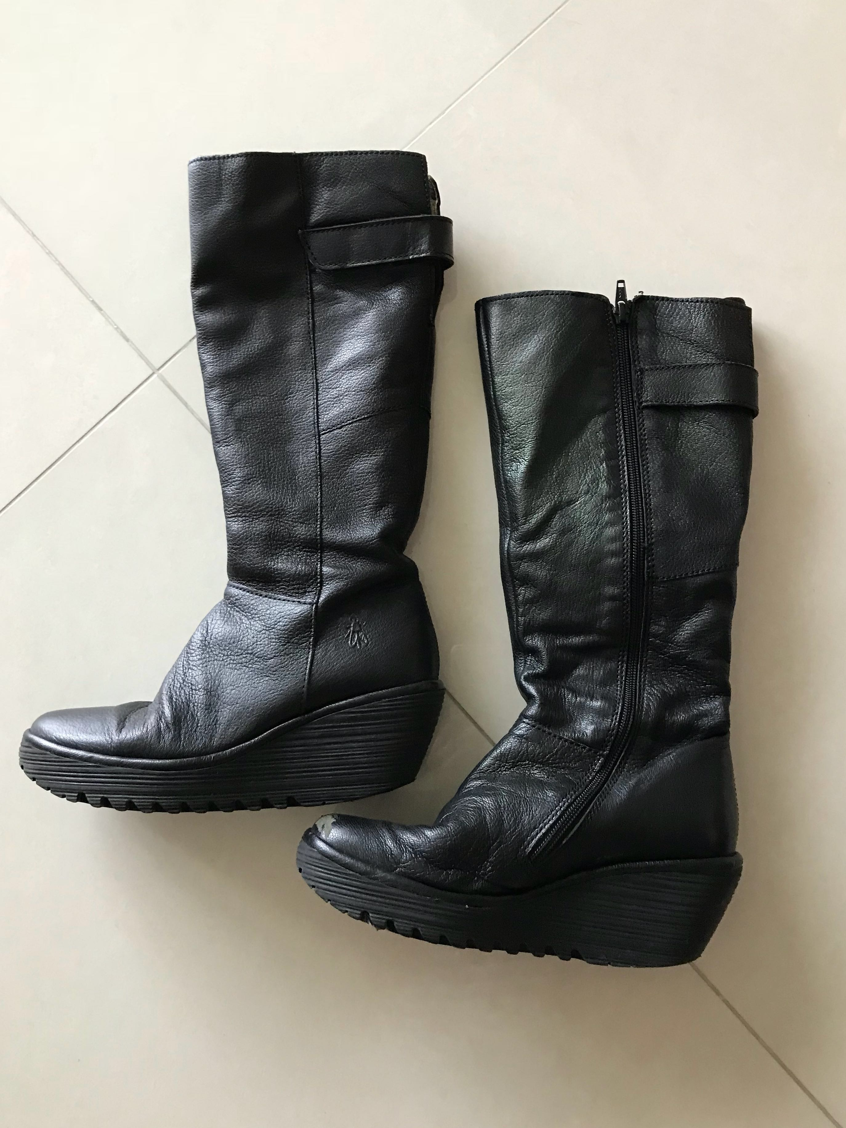 ada906d66cee Limited Edition Fly London Real Leather High Length Boots, Women's ...