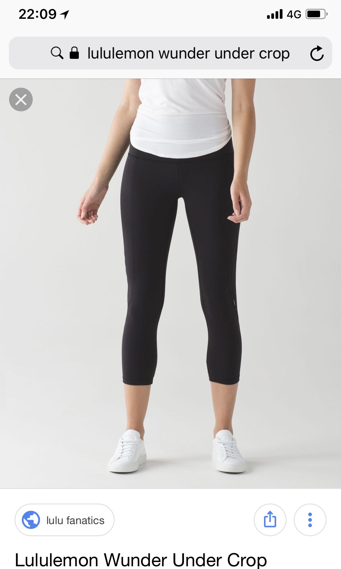 dc84e5c48a5ca Lululemon Wunder Under Crop Low rise, Sports, Sports Apparel on ...