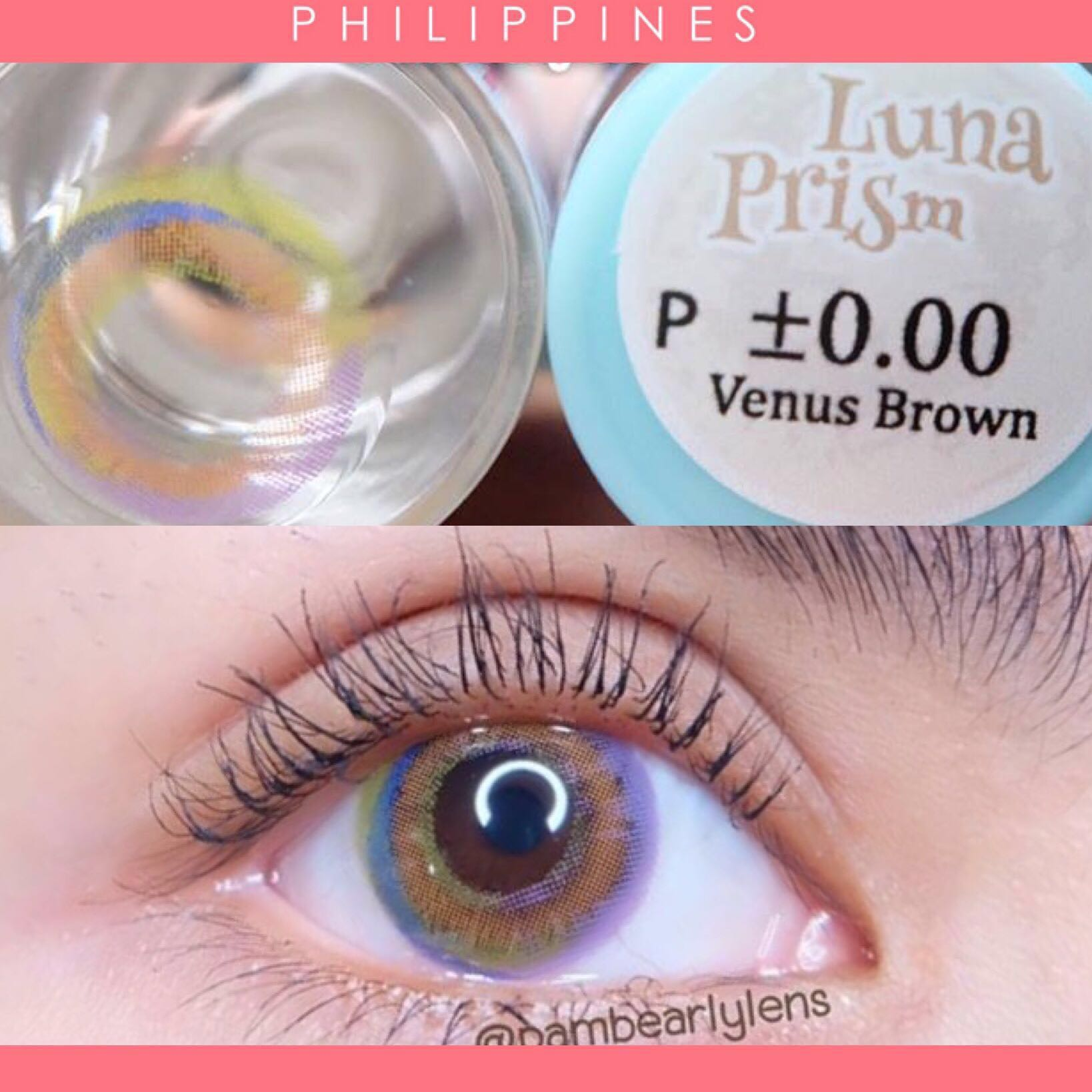 6d4b4c2ac9e Luna Prism Venus Brown -1.50 Contact Lens