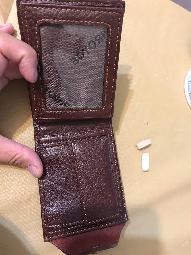 Men leather mini wallet