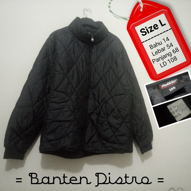 Nassau Jaket Quilted Outdoor Black Pria Size L not Nike 93dc78bf22