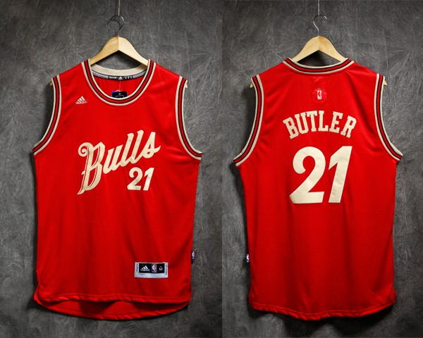 san francisco 326c8 fe400 NBA Christmas Chicago Bulls Jimmy Butler Swingman Jersey ...