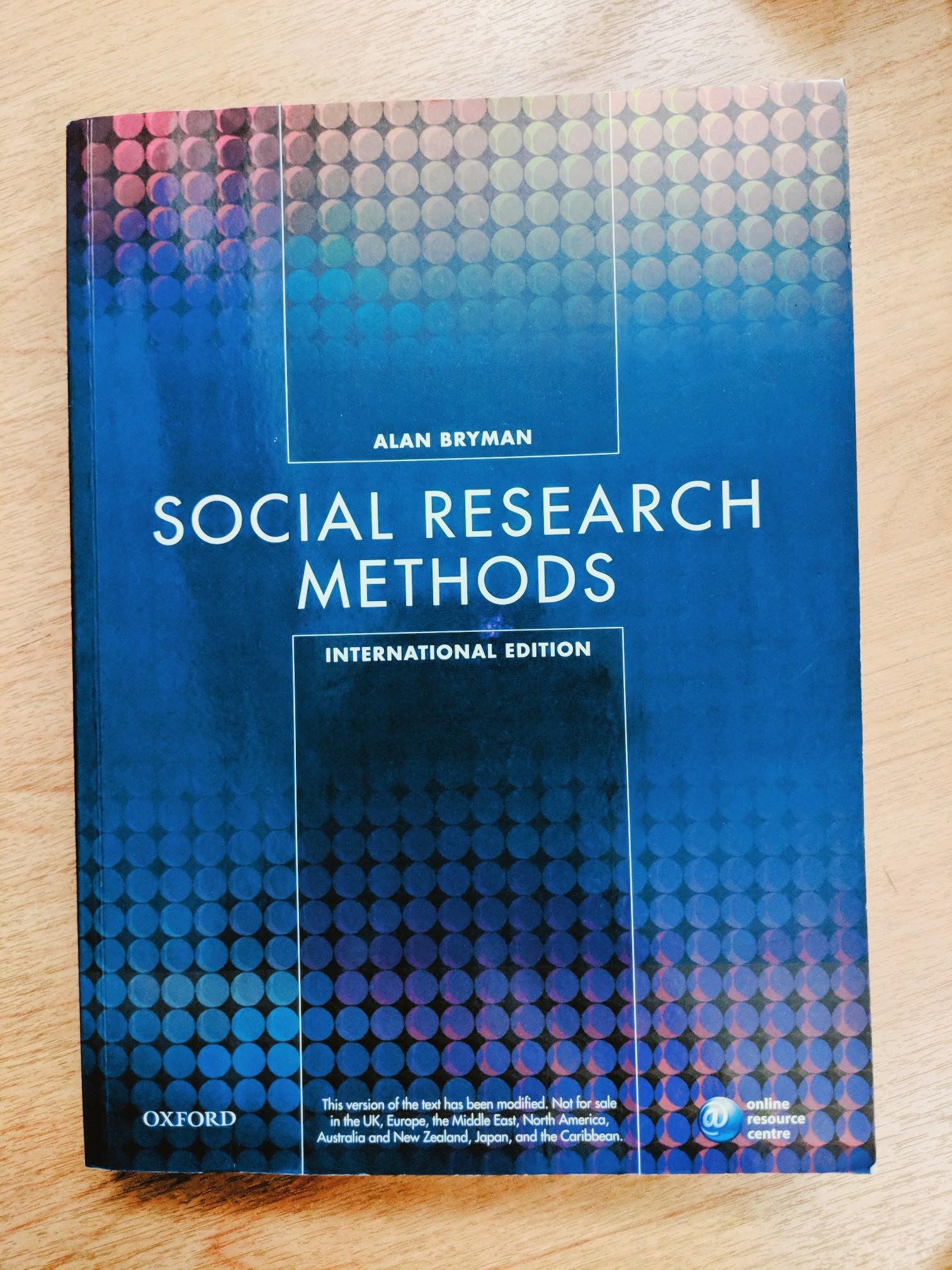 NM2104 Alarn Bryman Social Research Methods