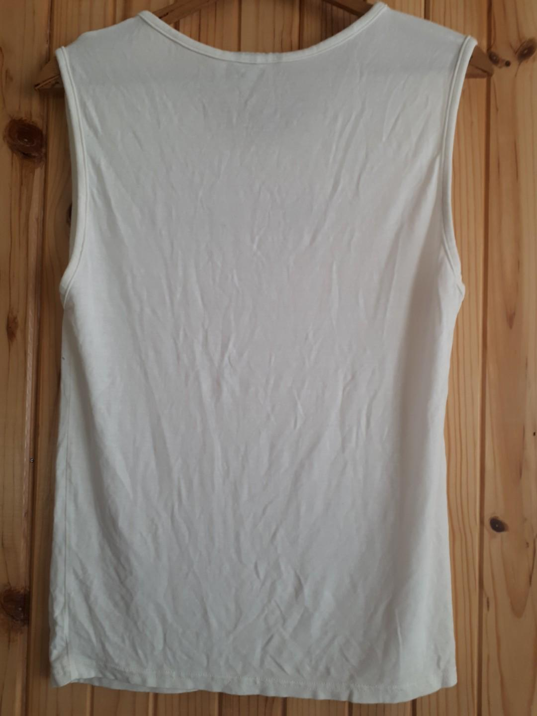 Omighty White Cat Tank Shirt Top O Mighty