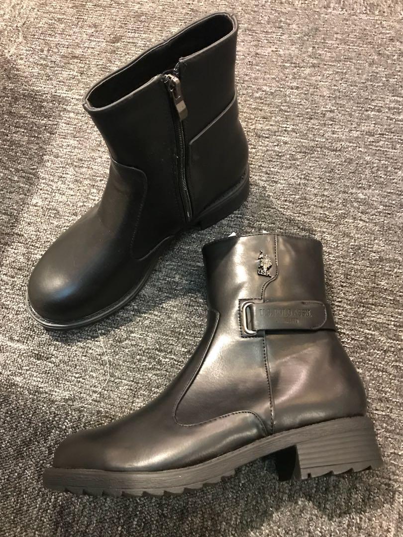 original us polo Boots, Women's Fashion