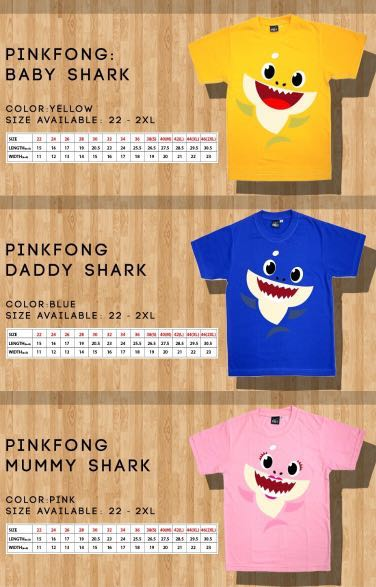 a05909ab Pink Fong Baby Shark Family Tee, Women's Fashion, Clothes, Tops on ...