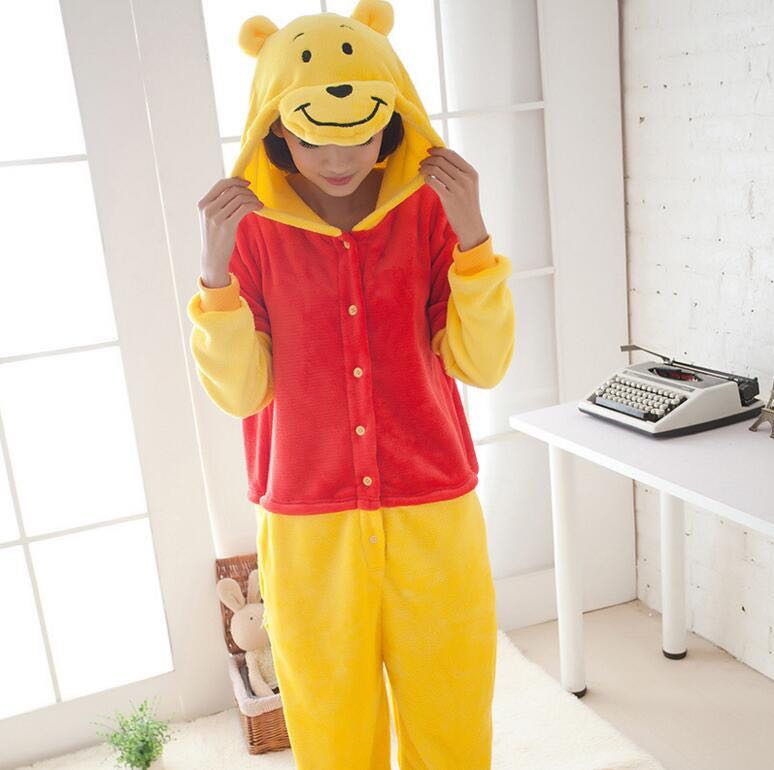 fa48d3a934aa PO  Pooh Bear Onesie Kigurimi Pyjamas