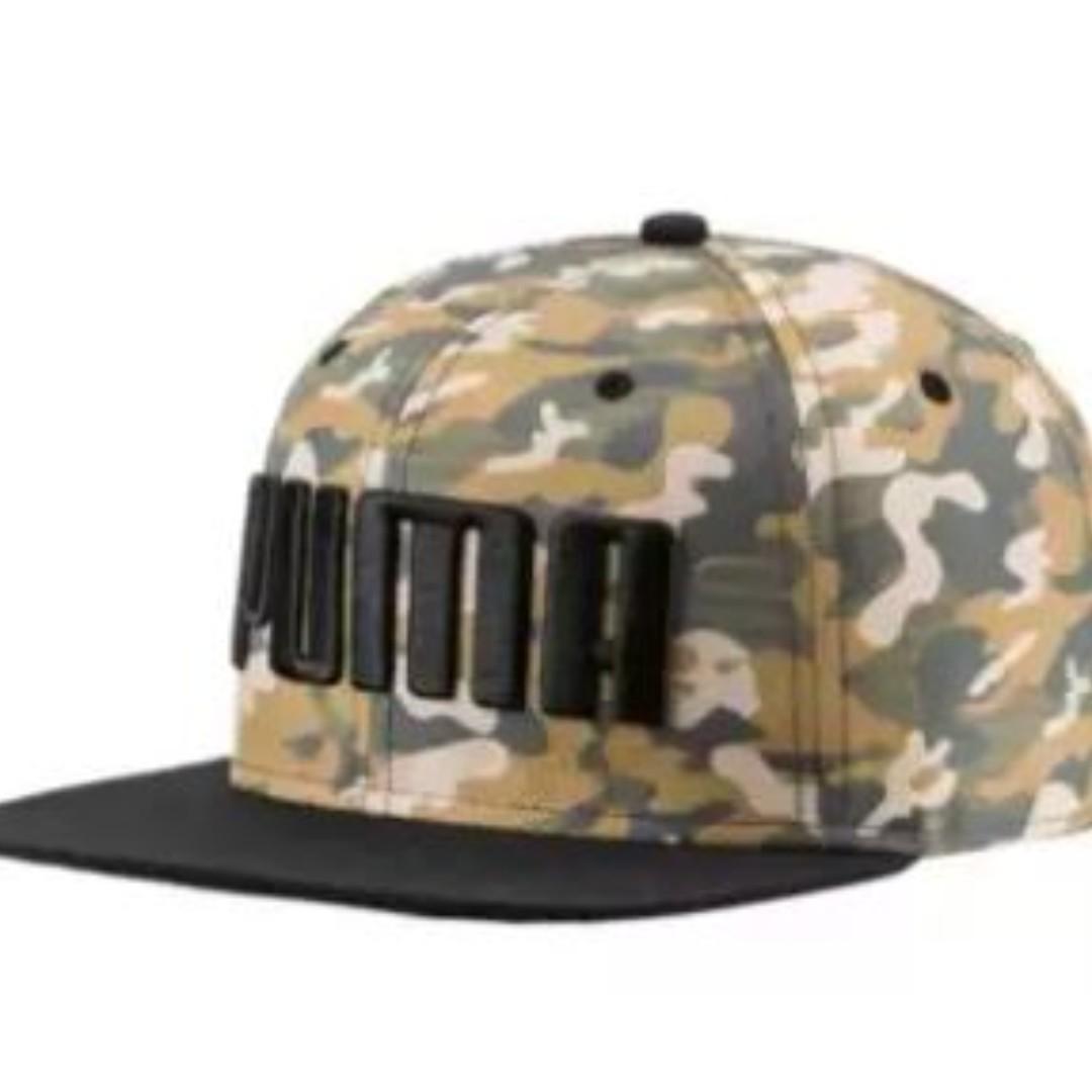 5638d5633ce PUMA Flatbrim Cap - Puma Black-CAMO AOP