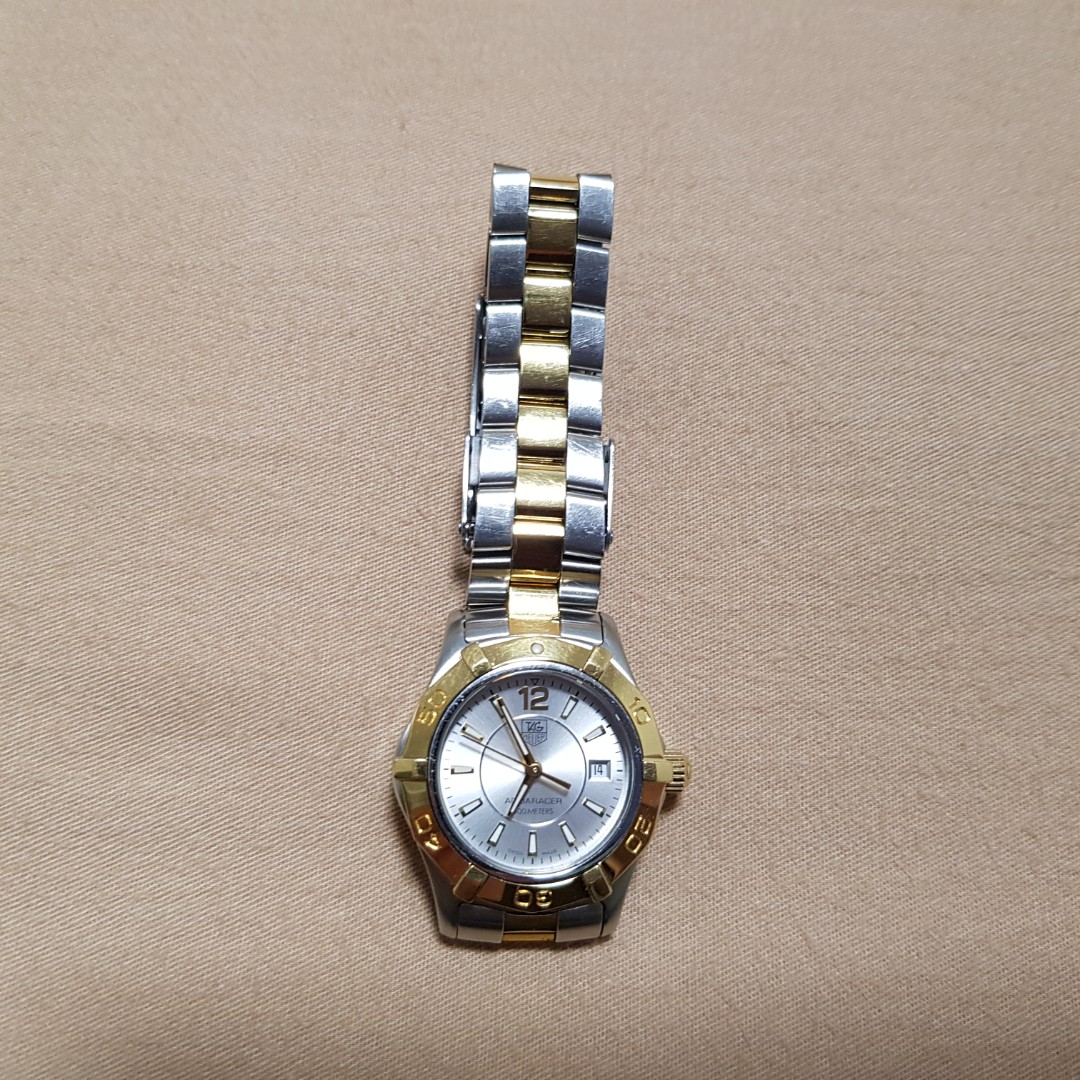 81df07c40ba Authentic rare Gold Silver Tag Heuer Aquaracer (WAF 1420) watch ...