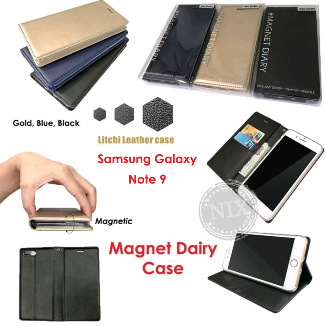 Samsung Note9 Leather Magnet Dairy Wallet Pouch Flip Case Mobile Goospery Note 5 Hybrid Dream Bumper Red Phones Tablets Tablet Accessories On Carousell