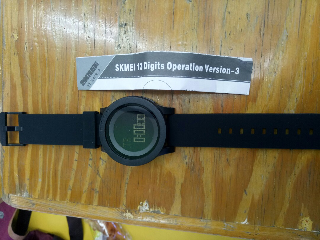 SKMEI 1142 jam tangan digital sport pria dan wanita water resistant 50m rubber strap black, Luxury, Watches on Carousell