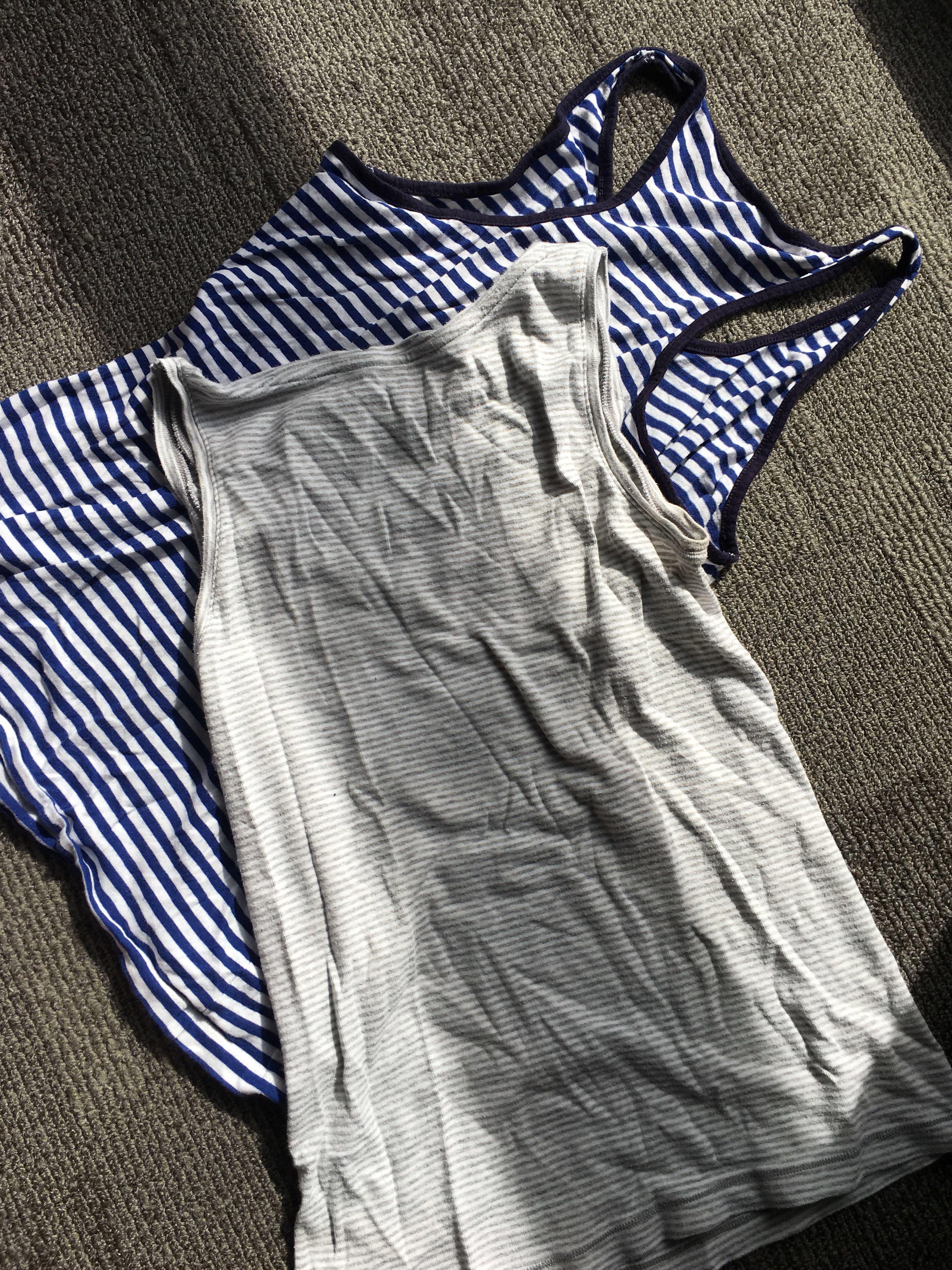 Striped singlets (S/M)