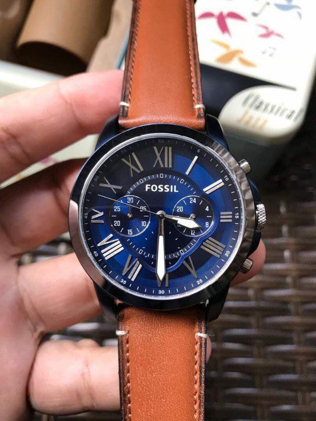 52d88646c032 TODAY PROMO - Fossil Mens FS5151 Grant Chronograph Stainless Steel ...